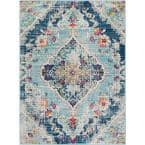 Marisol Blue 5 ft. 3 in. x 7 ft. 1 in. Medallion Area Rug