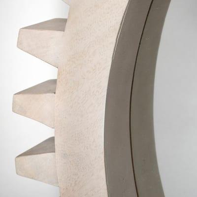 Medium Round White Modern Mirror (35.5 in. H x 35.5 in. W)