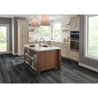 Belmond Obsidian 8 in. x 40 in. Matte Ceramic Floor and Wall Tile (11.11 sq. ft./Case)