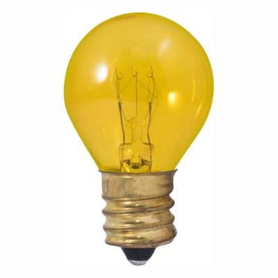 10-Watt S11 Transparent Yellow Dimmable Warm White Light Incandescent Light Bulb (25-Pack)