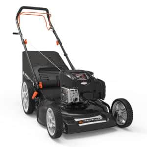 21 in. 163 cc Briggs and Stratton Just Check and Add Self-Propelled RWD Walk Behind Mower