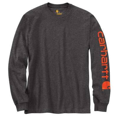 Men's Regular Medium Carbon Heather Cotton/Polyester Long-Sleeve T-Shirt