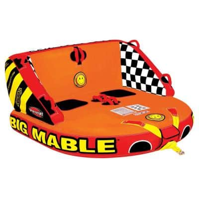 Big Mable Inflatable Sitting Double Rider Towable Boat and Lake Tube