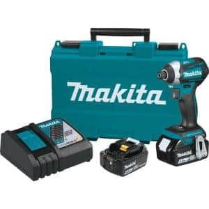 18-Volt LXT Lithium-Ion Brushless Cordless Quick-Shift Mode 3-Speed Impact Driver with (2) Batteries 5.0Ah, Hard Case