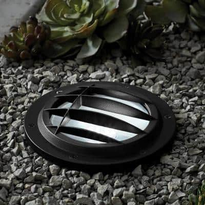 Low Voltage Black Integrated LED In Ground Well Light