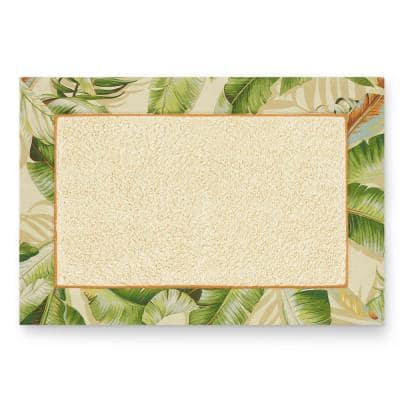 Palmiers Green Cotton 20X30 Rug