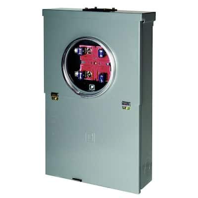 Homeline 100 Amp 10-Space 20-Circuit Outdoor Ring-Type Overhead Main Breaker CSED Value Pack