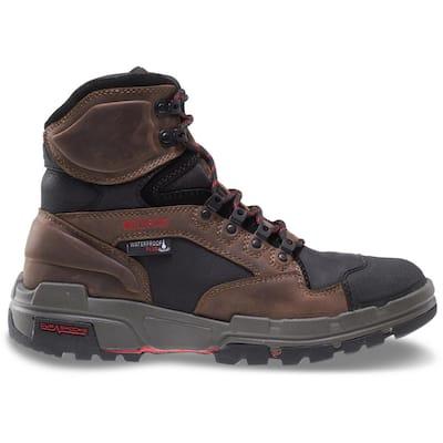 Men's Legend Waterproof 6 in. Work Boots - Soft Toe - Brown Size 10.5(M)