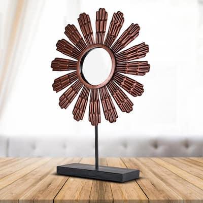 Copper Metal Flower Sculpture