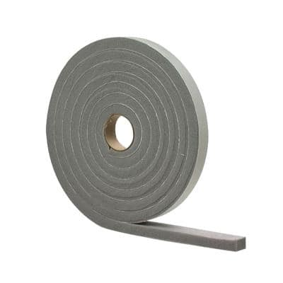 1/2 in. x 10 ft. Gray High-Density PVC Foam Weatherstrip Tape