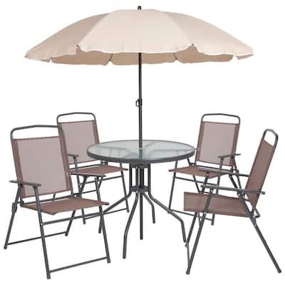 Carnegy Avenue Gray Metal Patio Conversation Set (6-pc)