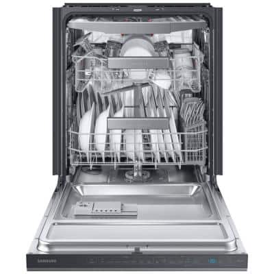 24 in. Top Control Tall Tub Dishwasher in Fingerprint Resistant Black Stainless Steel with AutoRelease, 3rd Rack, 39 dBA