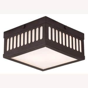 Prentice 2 Light Bronze Flush Mount