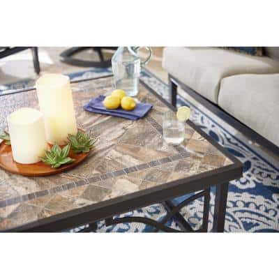 Richmond Hill Heather Slate 38 in. Square Outdoor Coffee Table