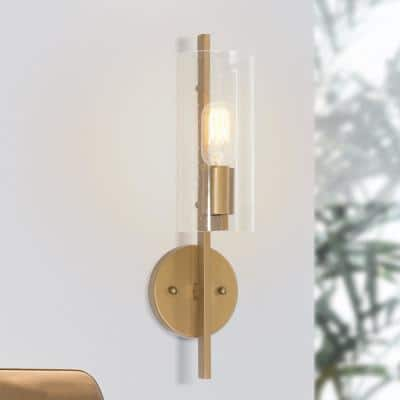 Clear Gold Sconces Lighting The Home Depot
