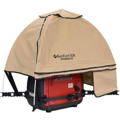 10K Generator Tent Running Cover - XKI (Standard, Tan Light) for 1K-9K Watt invertor Generators