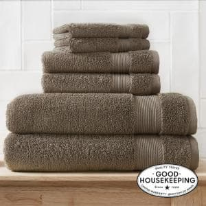 6-Piece Hygrocotton Towel Set in Fawn Brown