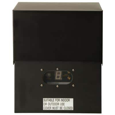 Power Pack Low-Voltage 600-Watt Black Outdoor Lighting Transformer with Photocell Light-Sensor and Metal Raintight Case