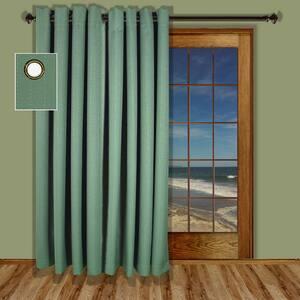 Green Grommet Blackout Curtain - 110 in. W x 84 in. L