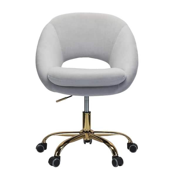 Boyel Living Grey Cute Desk Chair, Cute Office Chairs