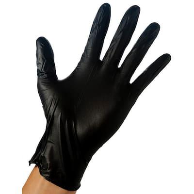 Large Black 4 Mil Disposable Nitrile Gloves (40-Box)