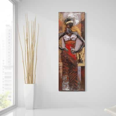"""60 in. x 20 in. """"Miss-tic"""" Mixed Media Iron Hand Painted Dimensional Wall Art"""