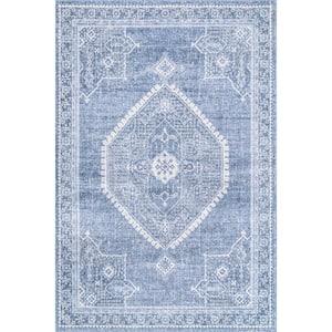 Isla Distressed Persian Blue 8 ft. x 10 ft. Area Rug