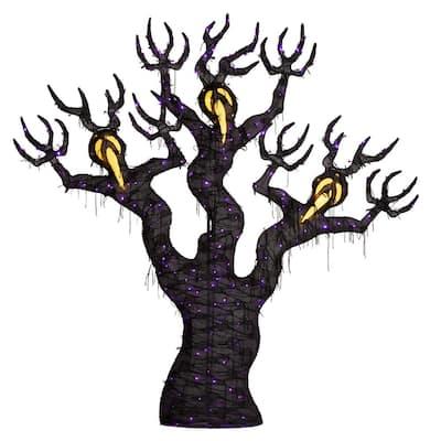 8 ft. 260-Light LED Spooky Ghost Tree