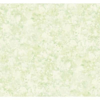 Seabrook Designs Kentmere Waves Metallic Pastel Green And Off White Paper Strippable Roll Covers 60 75 Sq Ft Lg90204 The Home Depot