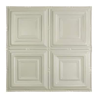 Syracuse 2 ft. x 2 ft. Nail-Up Tin Ceiling Tile in Antique White (Case of 5)