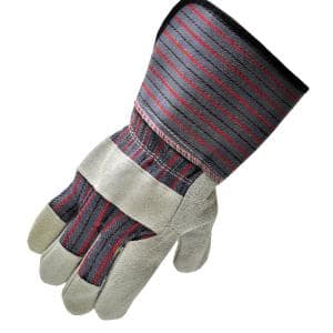 Extra Long Cuff 4-1/2 in. Large Leather Palm Work Gloves