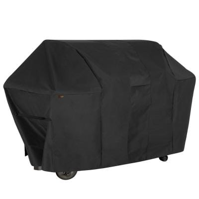 Monterey Water Resistant 6-Burner Grill Cover, 73 in. W x 25 in. D x 44.5 in. H, Large, Black
