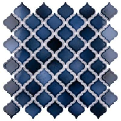Hudson Tangier Midnight 12-3/8 in. x 12-1/2 in. Porcelain Mosaic (10.96 sq. ft./Case)