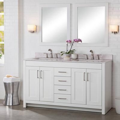 Modern 60 Inch Vanities Bathroom Vanities With Tops Bathroom Vanities The Home Depot