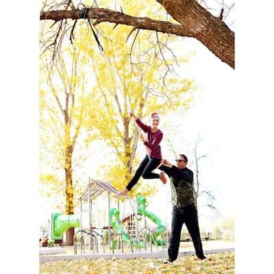 Swift Wood Tree Swing with Rope
