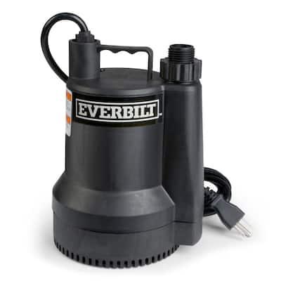 1/6 HP Plastic Submersible Utility Pump