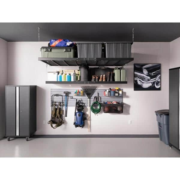 Newage Products Pro Series 128 In W X 84 75 In H X 24 In D 18 Gauge Steel Garage Cabinet Set In Gray 7 Piece 52053 The Home Depot