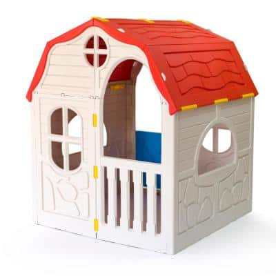 Plastic Products Kid's Cottage Foldable Toddler Outdoor Playhouse