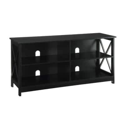 Oxford 16 in. Black Wood TV Stand Fits TVs Up to 46 in. with Cable Management