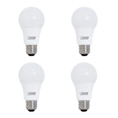 60-Watt Equivalent A19 Dimmable CEC ENERGY STAR 90+ CRI Indoor/Outdoor LED Light Bulb, Daylight (4-Pack)