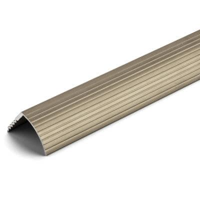 Satin Nickel 1-1/16 in. x 144 in. Aluminum Stair Edging Transition Strip