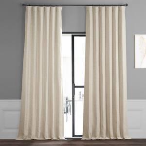 Oat Cream Rod Pocket Blackout Curtain - 50 in. W x 120 in. L