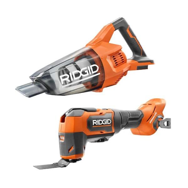 RIDGID 18V Brushless Cordless Oscillating Multi-Tool + Hand Vacuum