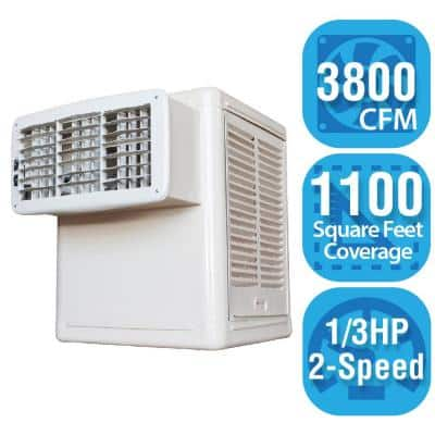 3,800 CFM 115-Volt 2-Speed Front Discharge Window Evaporative Cooler for 1100 sq. ft. (with Motor)