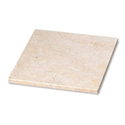 12 in. Natural Champagne Marble Square Cheese Board, Serving Board, Pastry Board