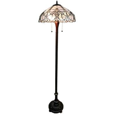 62 in. Tiffany Style Floral Floor Lamp