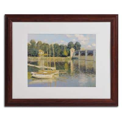 16 in. x 20 in. Bridge at Argenteuil Matted Brown Framed Wall Art