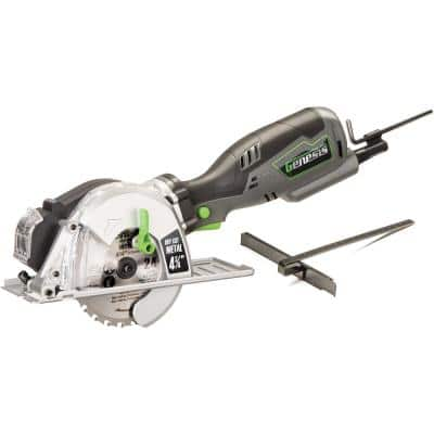 5.8 Amp 4-3/4 in. Control Grip Metal Cutting Compact Circular Saw with Chip Collector and Metal Cutting Blade