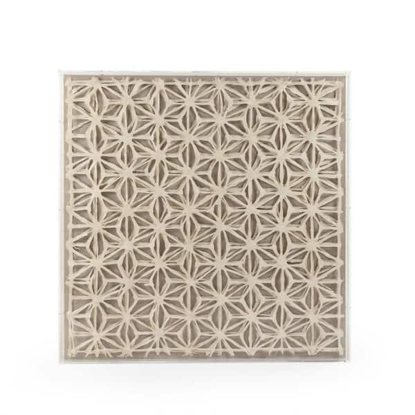 Zentique Abstract Paper Framed Wall Art By Zentique Zen30190 The Home Depot
