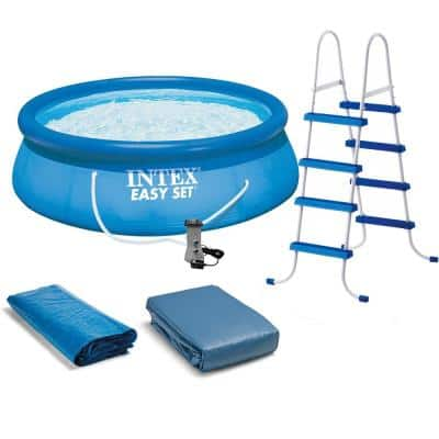 15 ft. x 48 in. Deep Round Inflatable Pool with 1,000 GPH Filter Pump